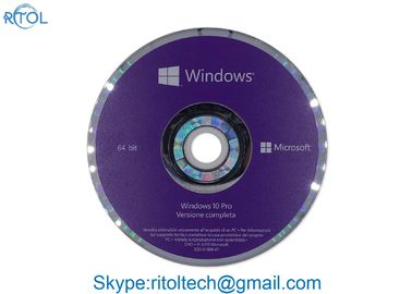 OEM de 32 pedazos de Windows 10 del italiano favorable, OEM 64 de Windows 10 profesionales del DVD favorable